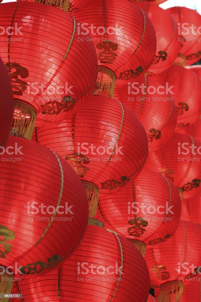 Lanterna rosso foto stock royalty-free