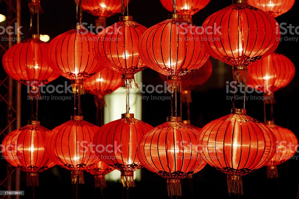 Red lanterns for Chinese New Year royalty-free stock photo
