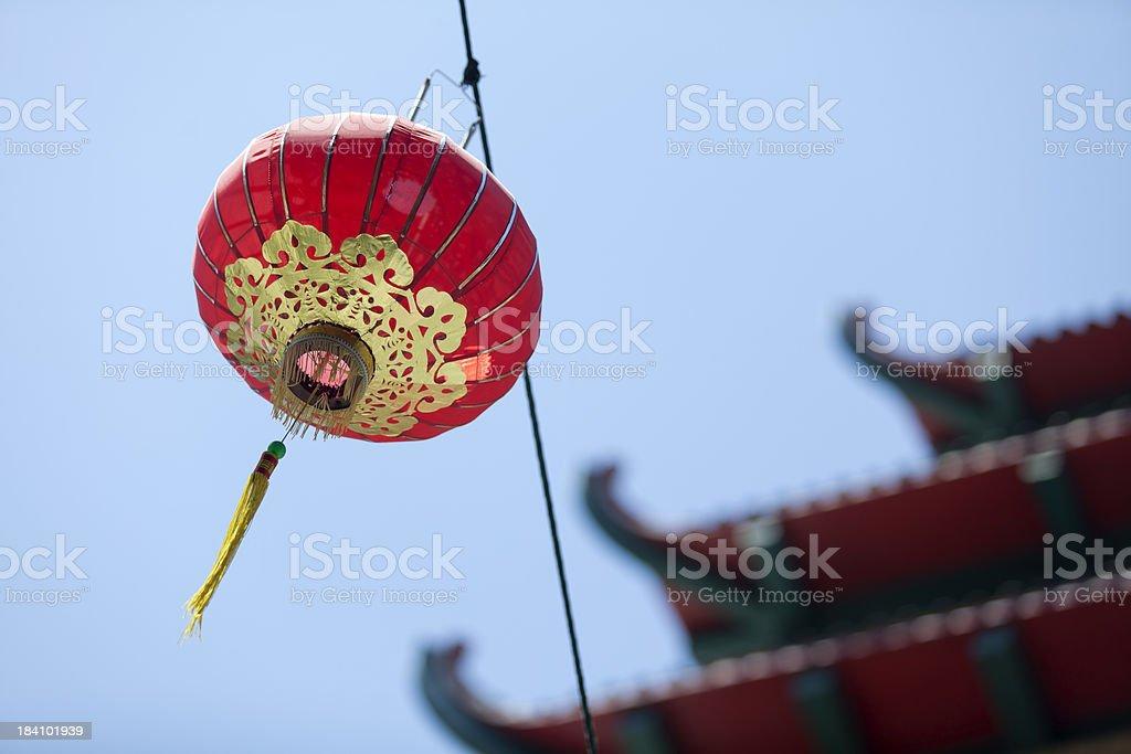 Red Lanterns in San Francisco Chinatown royalty-free stock photo