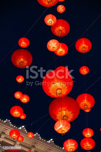 Chinese lanterns, Red lanterns