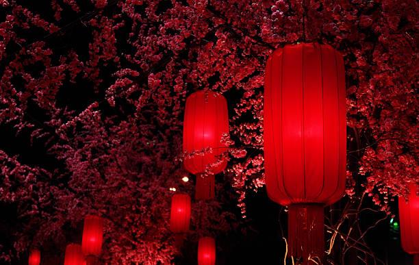 lanterne rosse - festival delle lanterne cinesi foto e immagini stock