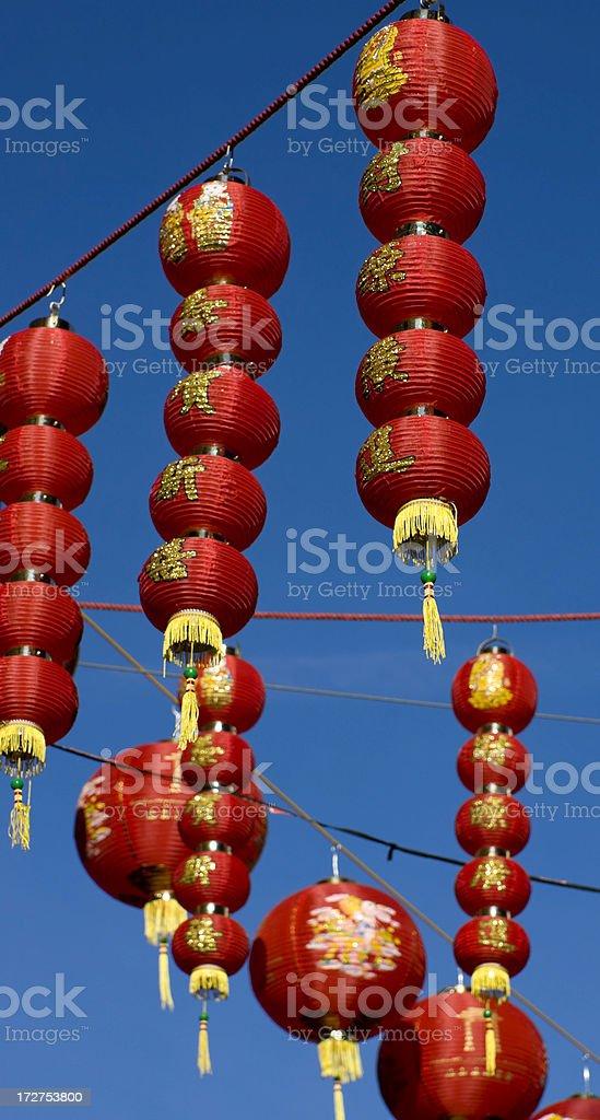 Red lanterns royalty-free stock photo