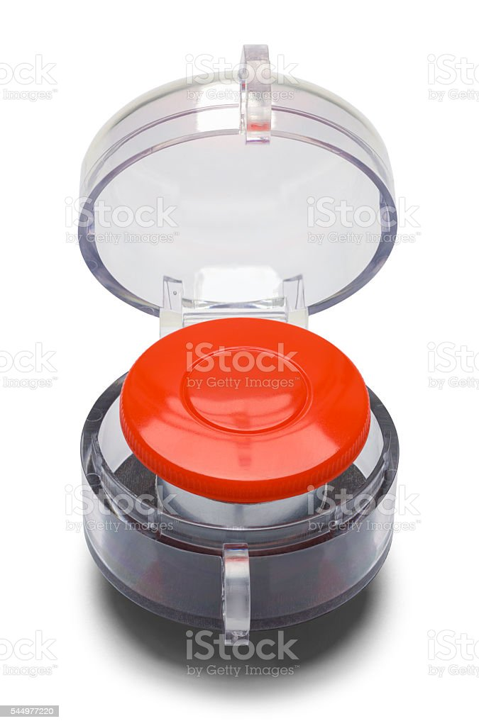 Red Launch Button stock photo