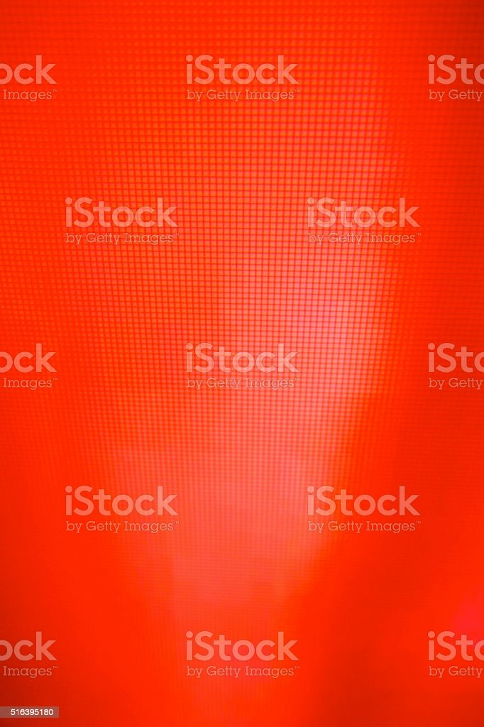 red LCD movie projector broadcast digital noise electronic signal failure stock photo