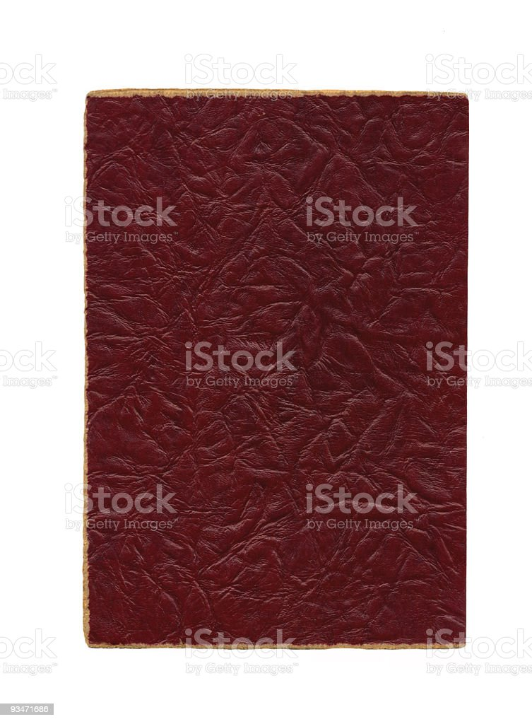 Red Leather Album (XL) stock photo