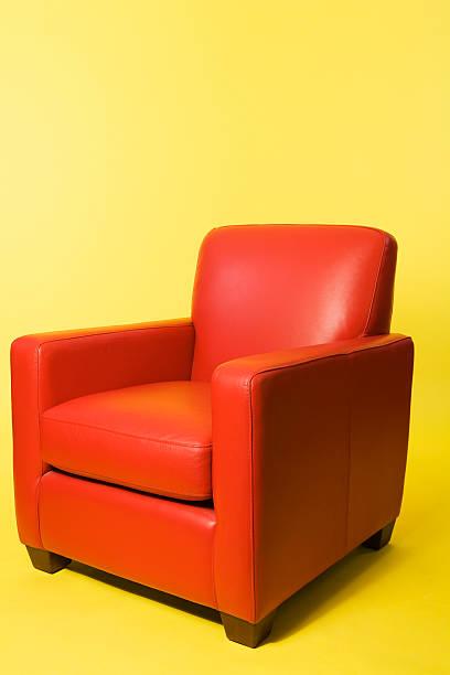 in der red chair - diy leder stock-fotos und bilder