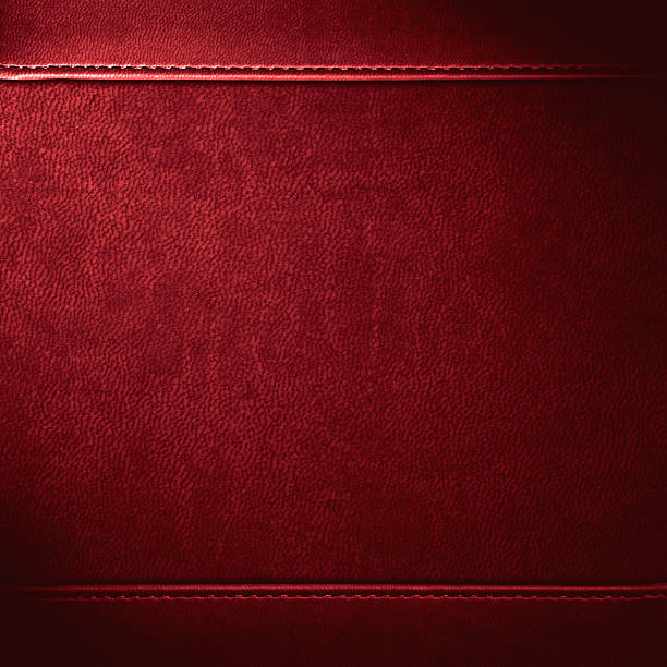 red leather background - seam stock photos and pictures
