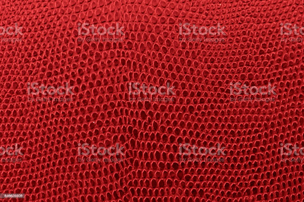 Red leather background texture. stock photo