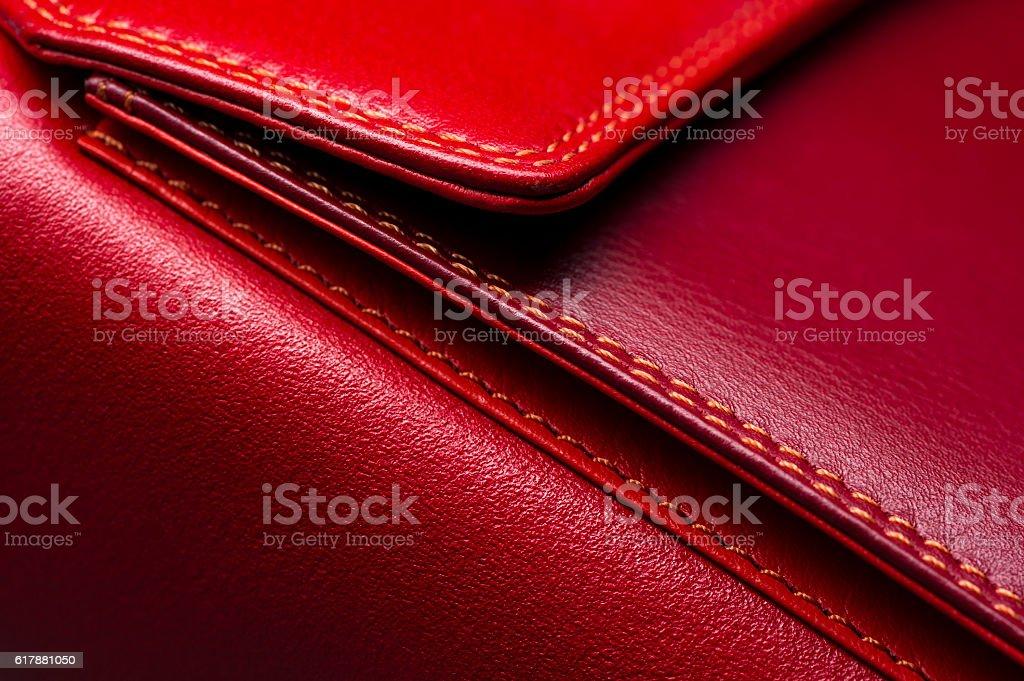 Rotes Leder-Tasche – Foto
