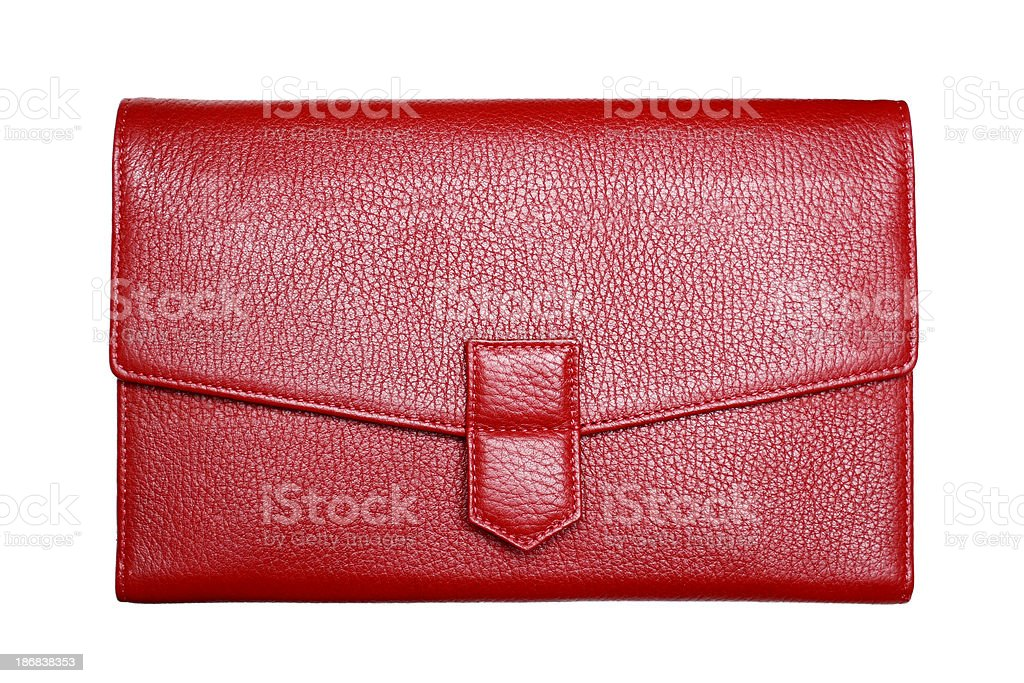 Red Leather Purse stock photo