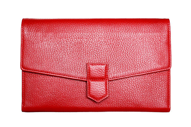 Rotes Leder-Handtasche – Foto