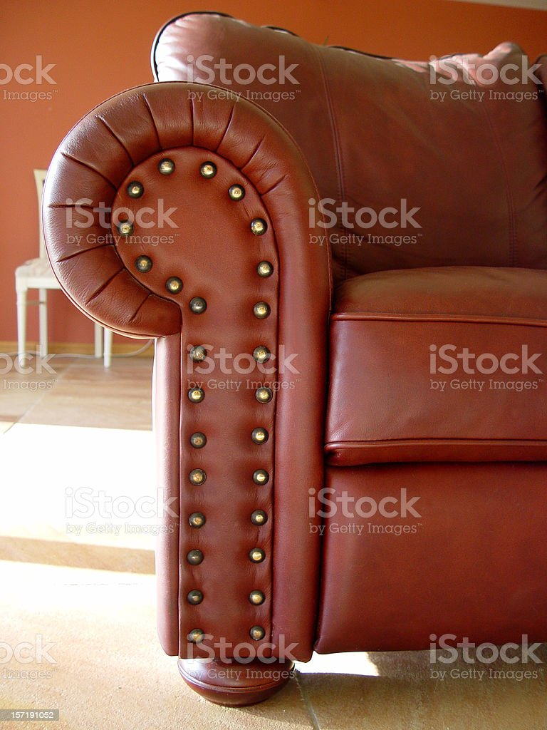 Red leather studs royalty-free stock photo