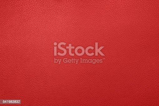 istock Red leather texture 541983832