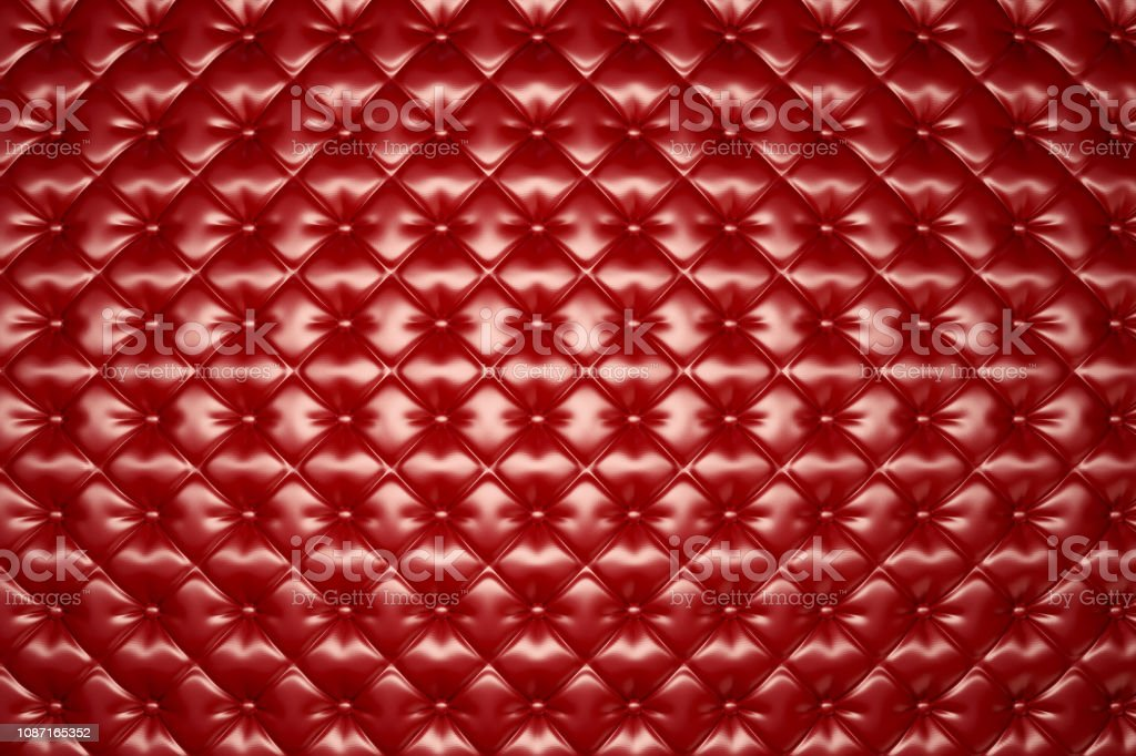 Red Leather Upholstery Texture stock photo