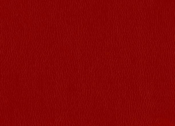fundo vermelho da textura do leatherette - foto de acervo