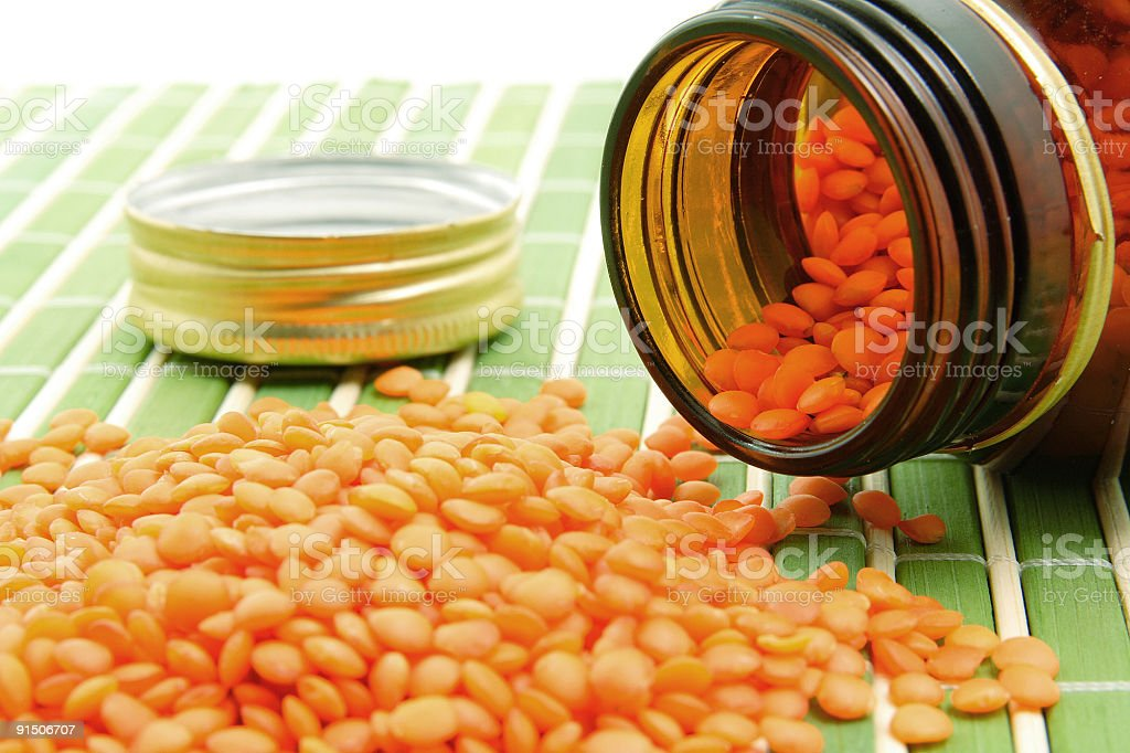 Red lentils royalty-free stock photo