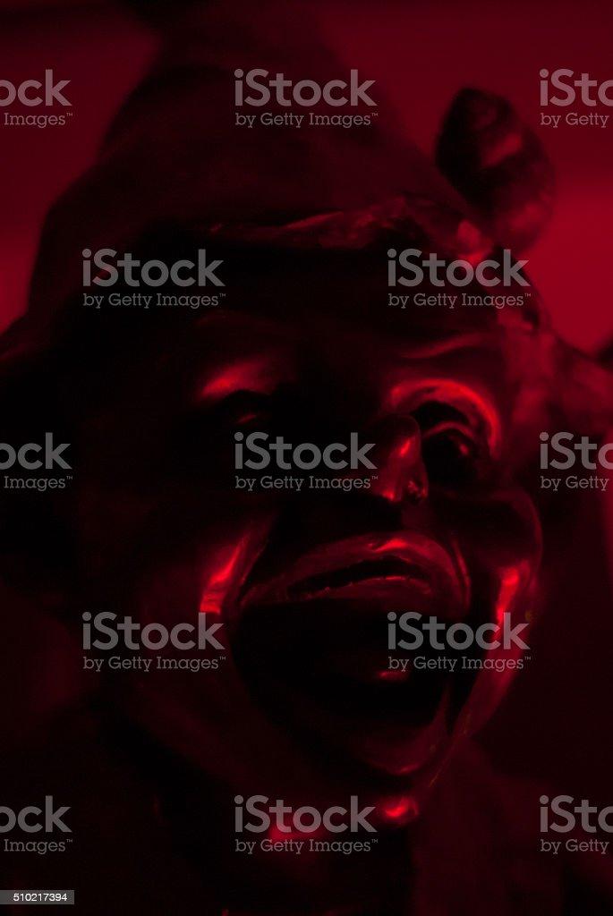 Red leprechaun stock photo