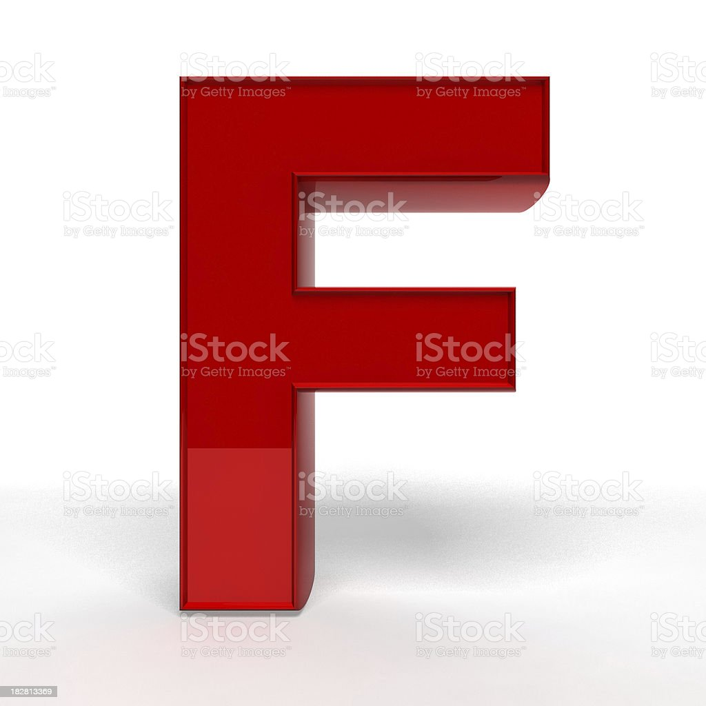Red letter F royalty-free stock photo