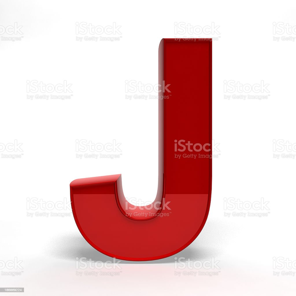 Red letter J royalty-free stock photo