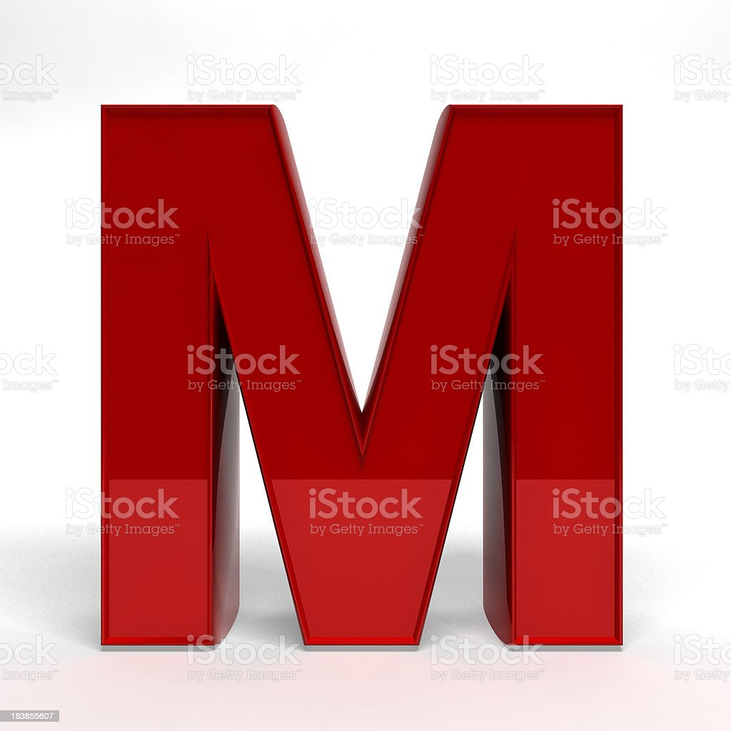 Red letter M royalty-free stock photo