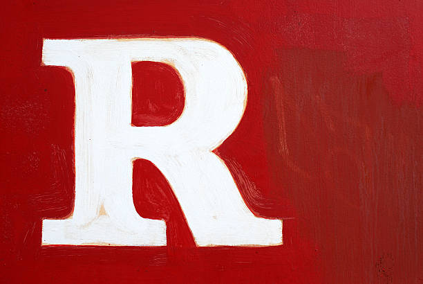 Red Letter stock photo