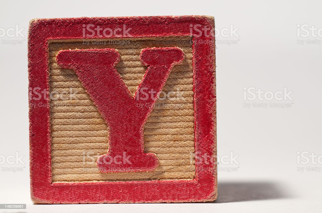Red Letter 'Y' stock photo