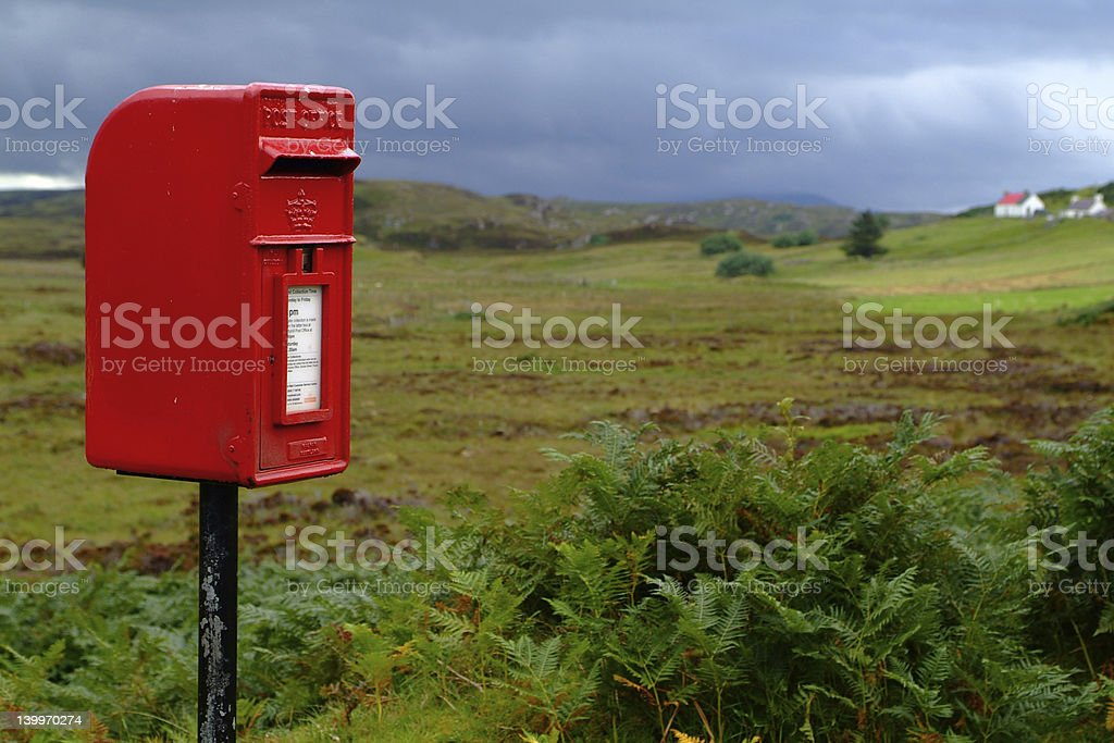 Red letterBox royalty-free stock photo