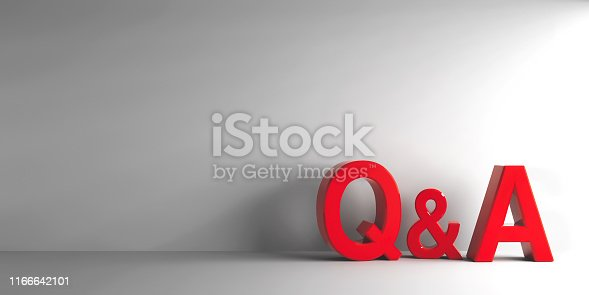 istock Red letters Q&A 1166642101
