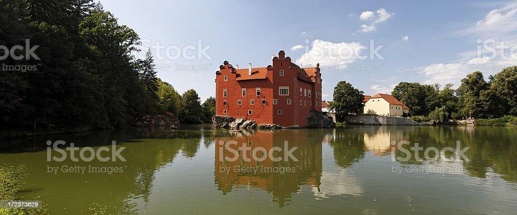 Red lhota panorama stock photo