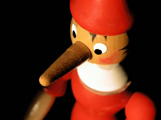 red liar! portrait of a liar! pinocchio stock pictures, royalty-free photos & images