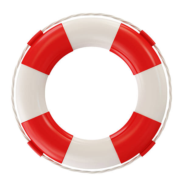 Red Lifebelt isolated on white background Red Lifebelt isolated on white background buoy stock pictures, royalty-free photos & images
