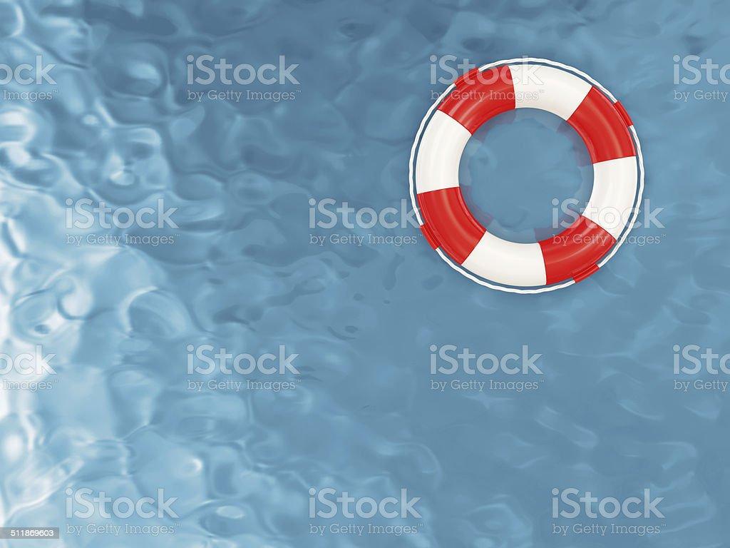 Red Lifebelt auf das Wasser – Foto