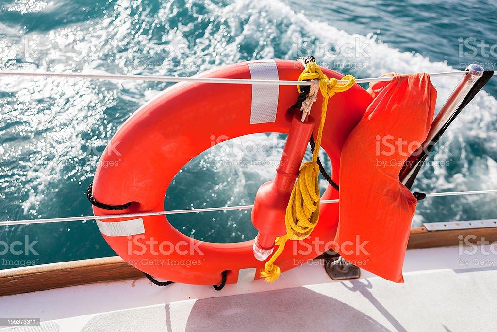 Red Lifebuoy royalty-free stock photo
