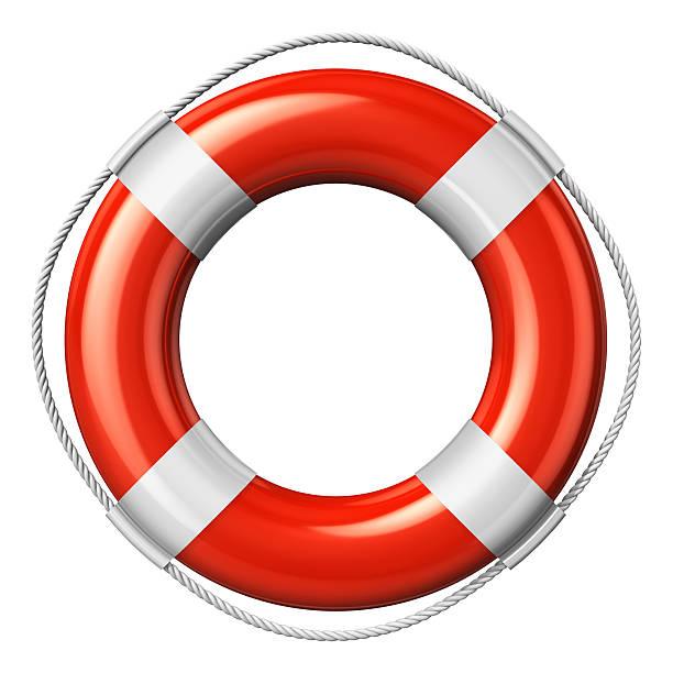 red beauty-bringer gürtel, isoliert auf weißem hintergrund - wasser sicherheitsausrüstung stock-fotos und bilder