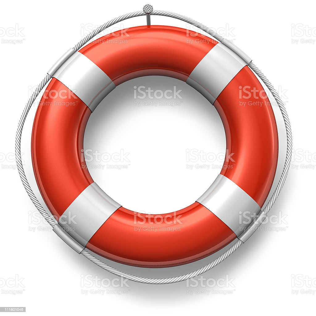 Red lifesaver stock photo