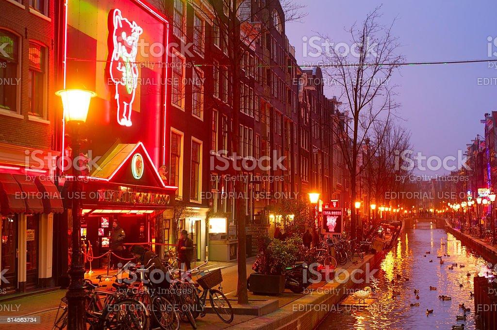 Red Light, Amsterdam stock photo