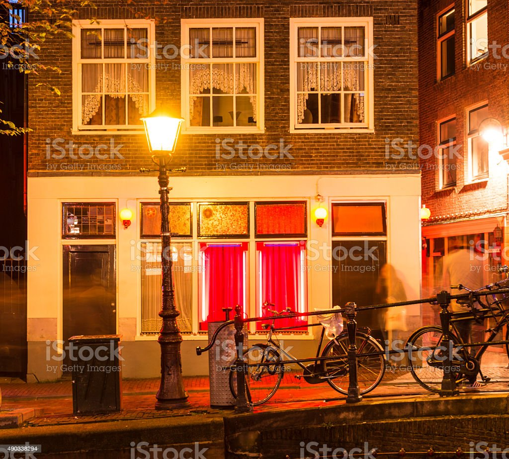 Red Light District of Amsterdam Netherlands stock photo