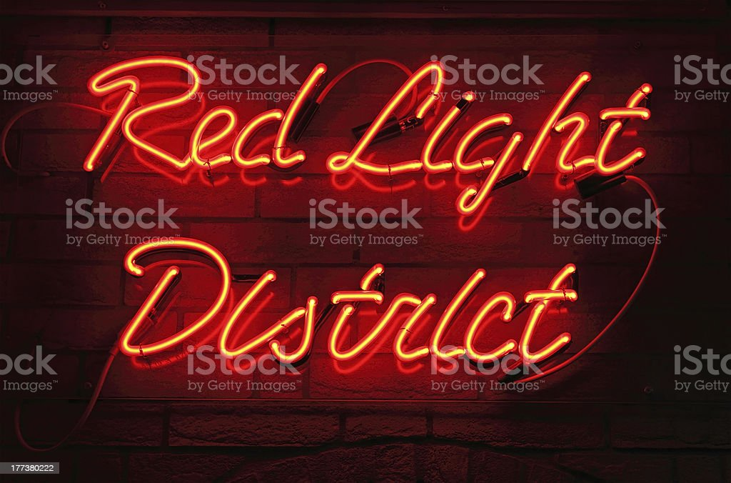 Red Light District stock photo