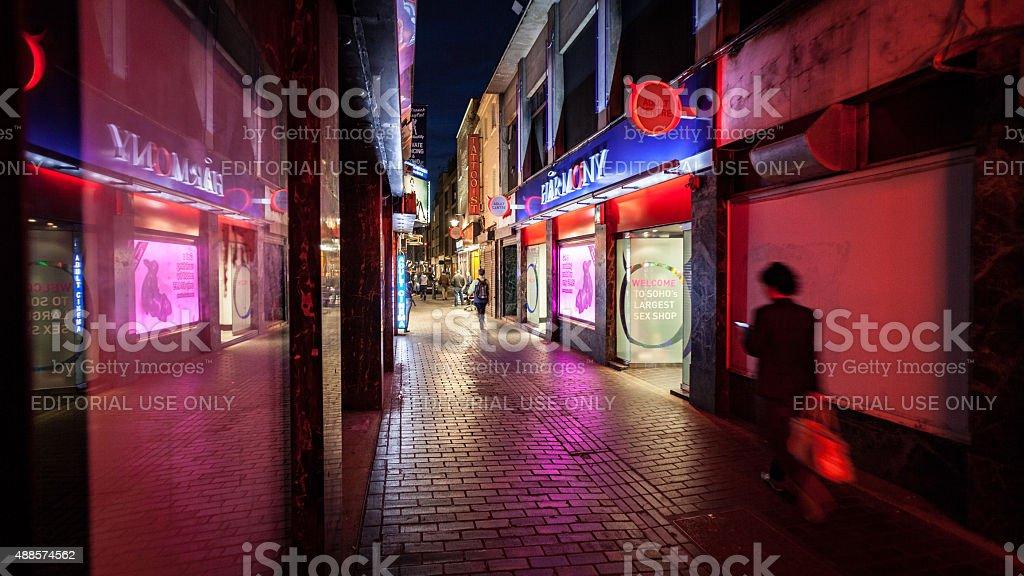 Barrio rojo, Soho, Londres - foto de stock