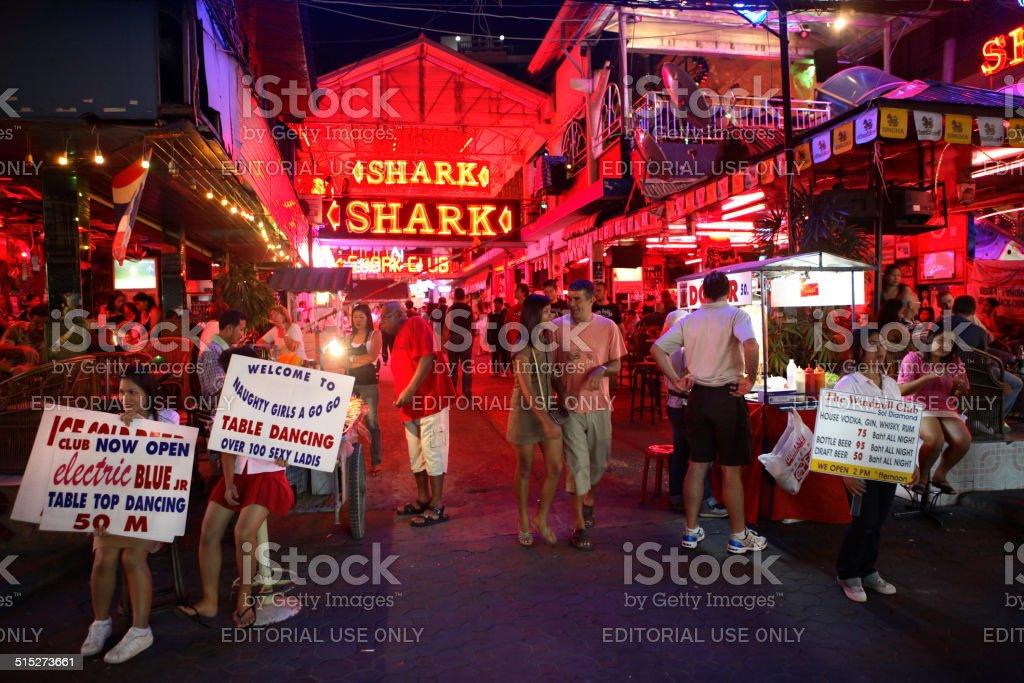 Red light districts Pattaya stock photo