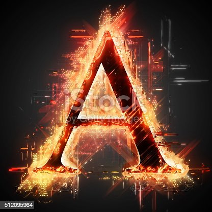 485047926 istock photo Red light letter A 512095964