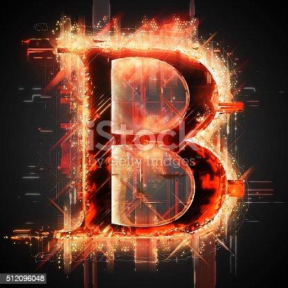 istock Red light letter B 512096048