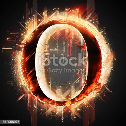 485047926 istock photo Red light letter O 512096978