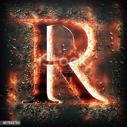 485047926 istock photo Red light letter R 467933754