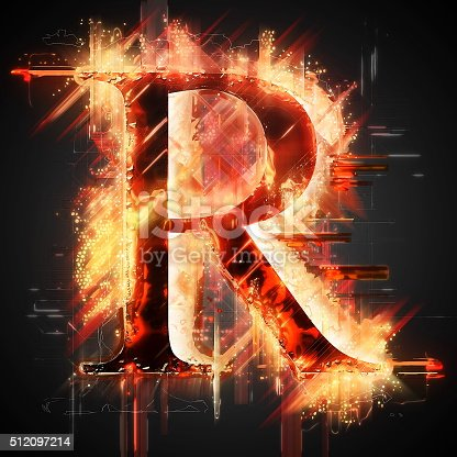 485047926 istock photo Red light letter R 512097214