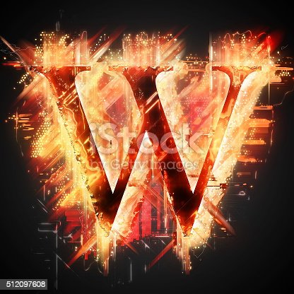 485047926 istock photo Red light letter W 512097608