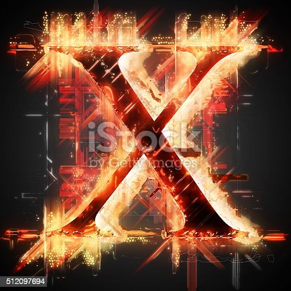 485047926 istock photo Red light letter X 512097694