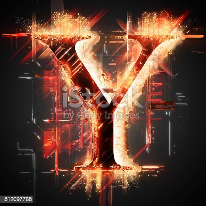 485047926 istock photo Red light letter Y 512097768