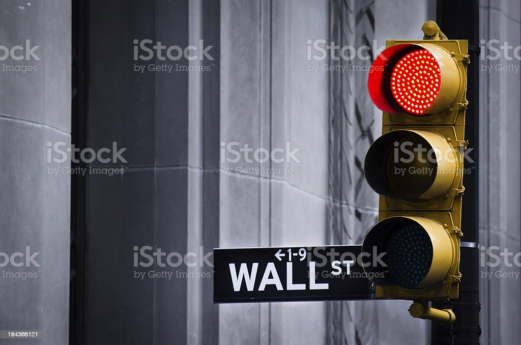 Red Light On Wall Street royalty-free stock photo