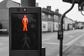 Red light on a pedestrian crossing